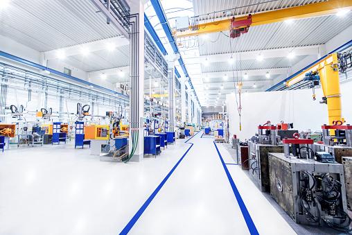 Modern factory & aisle 659160968