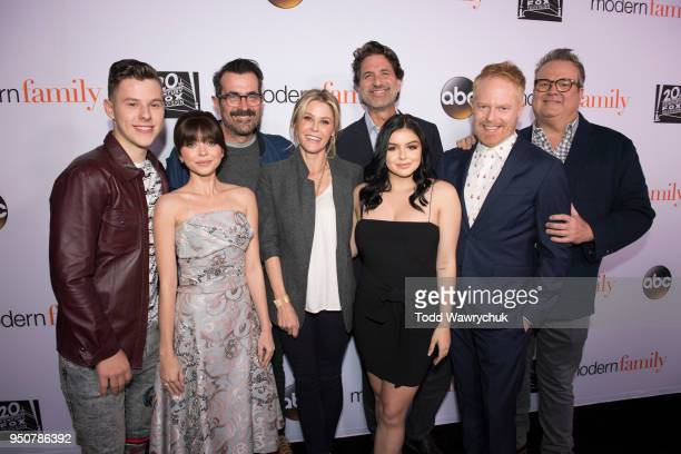 FAMILY Modern Family cast members Julie Bowen Ty Burrell Jesse Tyler Ferguson Eric Stonestreet Sarah Hyland Nolan Gould and Ariel Winter talk about...