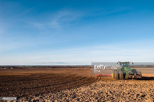 modern farming in the south of sweden - john deere stock pictures, royalty-free photos & images