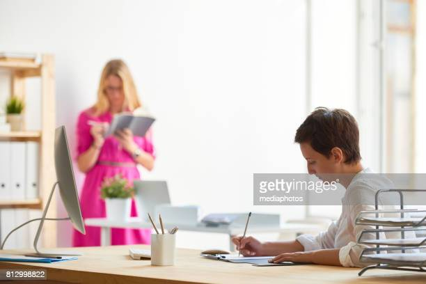 Modern Female Manager at Work in Office