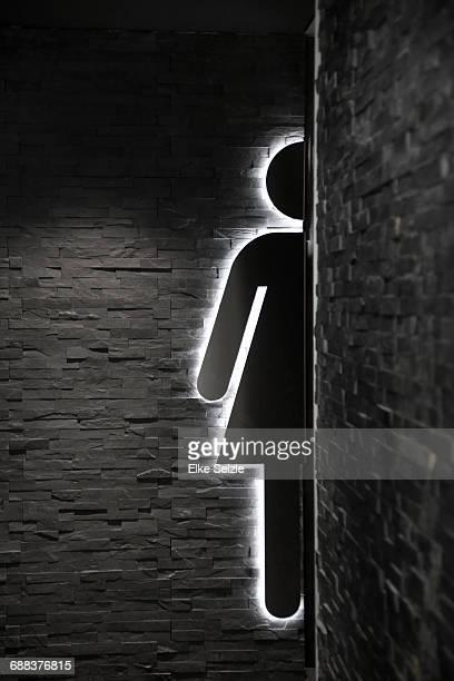 Modern Female restroom sign