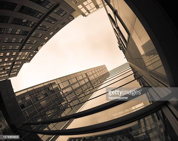 Modern financial district building in Brussels - Scyscraper