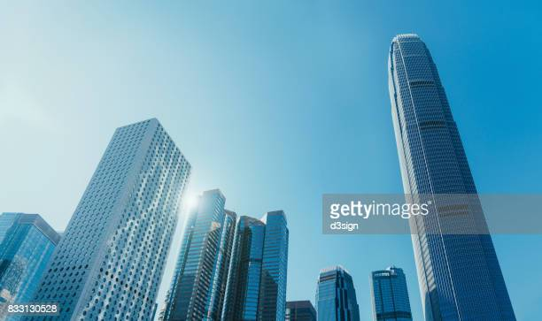Modern financial skyscrapers in Central Business District, Hong Kong