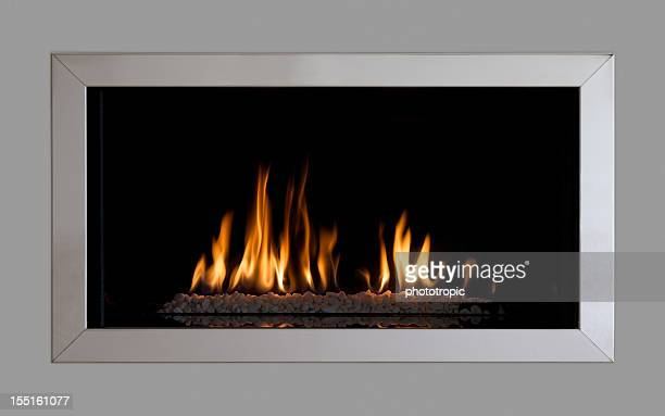 modern fitted gas fire