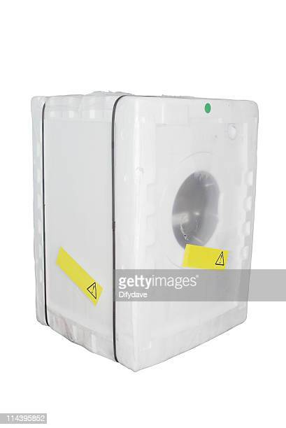 Modern Front Loading Washing Machine In Packing