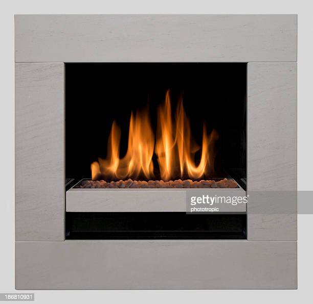 modern gas fire square composition