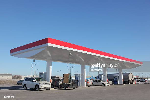 Modern Gas Station with cars refueling
