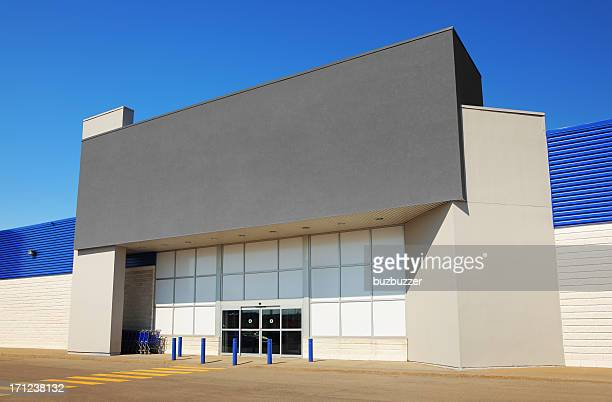 modern generic marketplace entrance - facade stock pictures, royalty-free photos & images