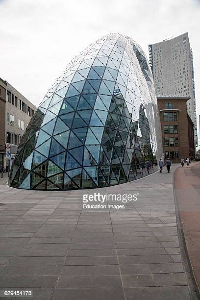 Modern glass dome shop building Eindhoven city center North Brabant province Netherlands