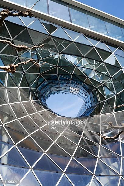 Modern glass facade at Zeil Frankfurt