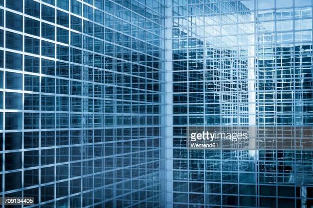 Modern glass facade, partial view