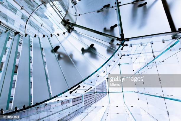 Modern Glass Stairway Footprints