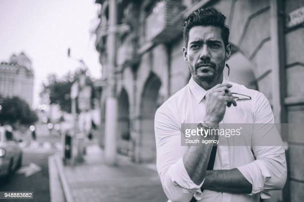 modern guy in city - masculinity stock pictures, royalty-free photos & images