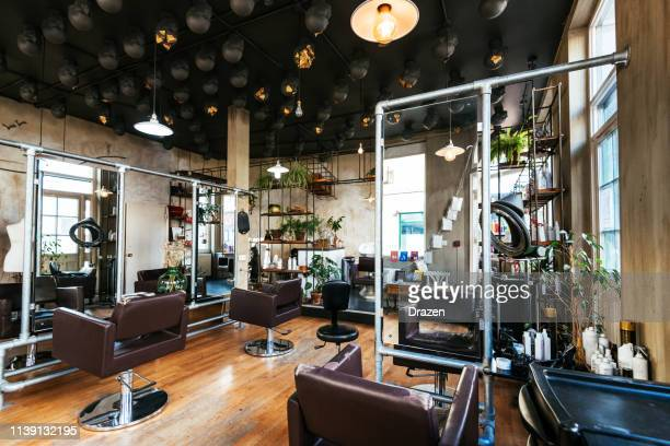 modern hair salon - hair salon stock pictures, royalty-free photos & images