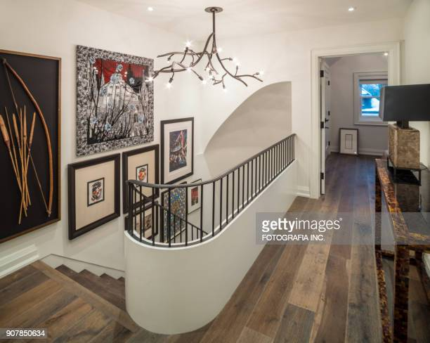 modern hallway interior - painting art product stock pictures, royalty-free photos & images