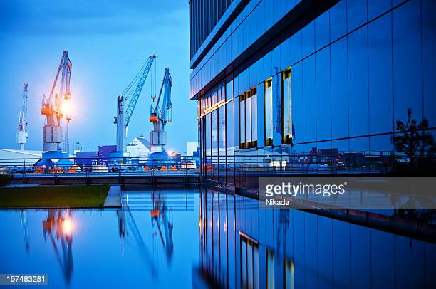 modern harbor - navy stock pictures, royalty-free photos & images