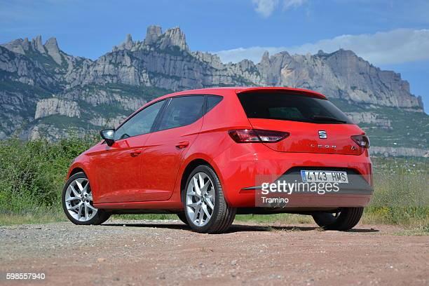 Modern hatchback on the road