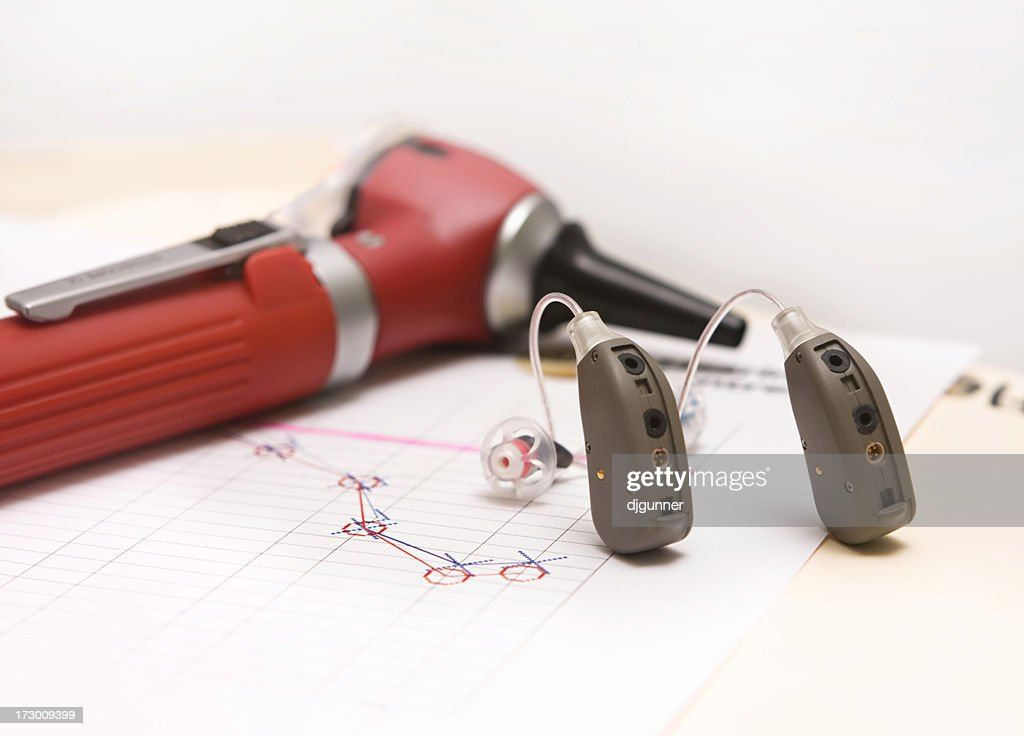 Modern Hearing Aids : Stock Photo