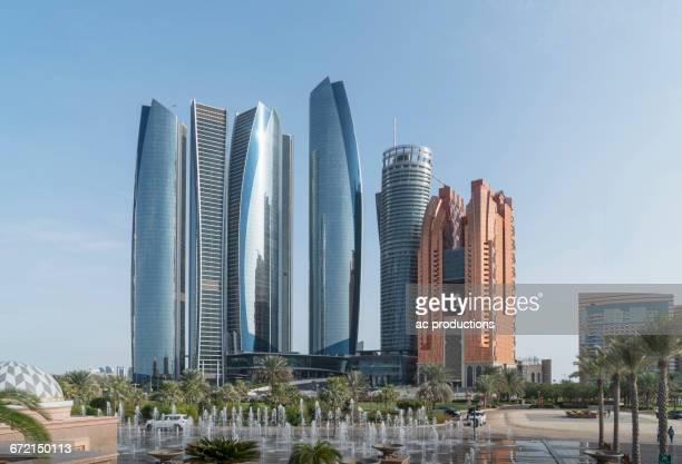 modern highrises, abu dhabi, abu dhabi emirate, united arab emirates,  - abu dhabi stock pictures, royalty-free photos & images