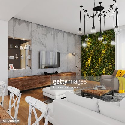Modern Hipster Apartment Interior High-Res Stock Photo ...