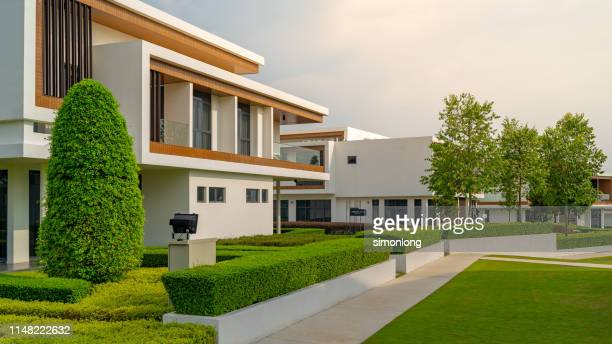 modern home front - home front stock pictures, royalty-free photos & images