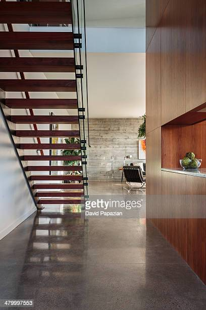 Modern home interior with view of staircase