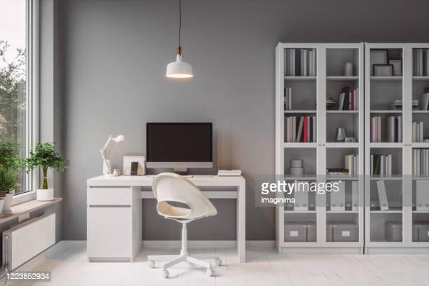 interior moderno do home office - esparso - fotografias e filmes do acervo