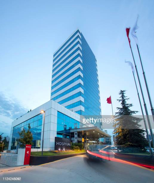 modern hospital building - building exterior stock pictures, royalty-free photos & images