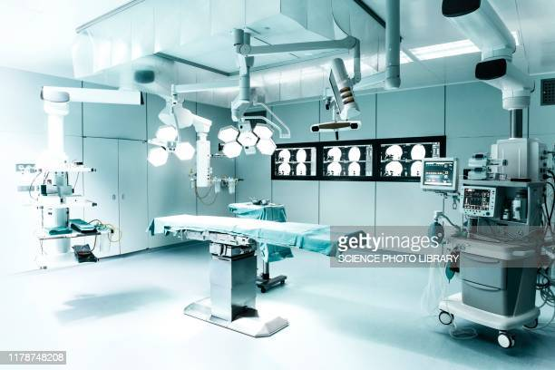 modern hospital operating theatre - operating theatre stock pictures, royalty-free photos & images