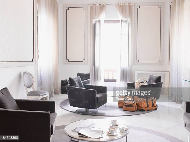 modern hotel suite - luxury hotel stock pictures, royalty-free photos & images