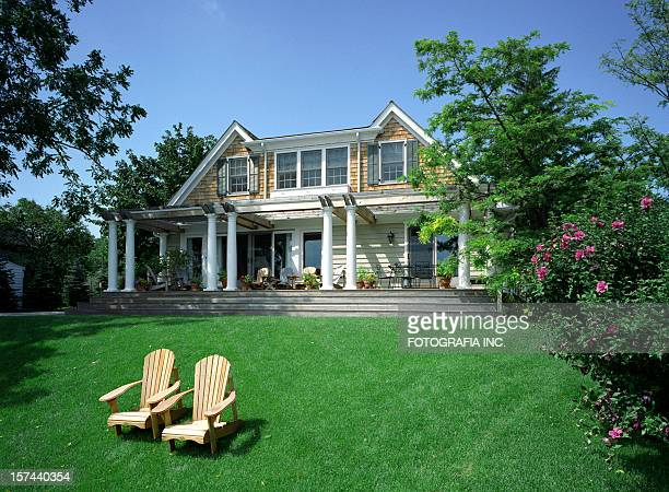 modern house exterior - beautiful house stock photos and pictures
