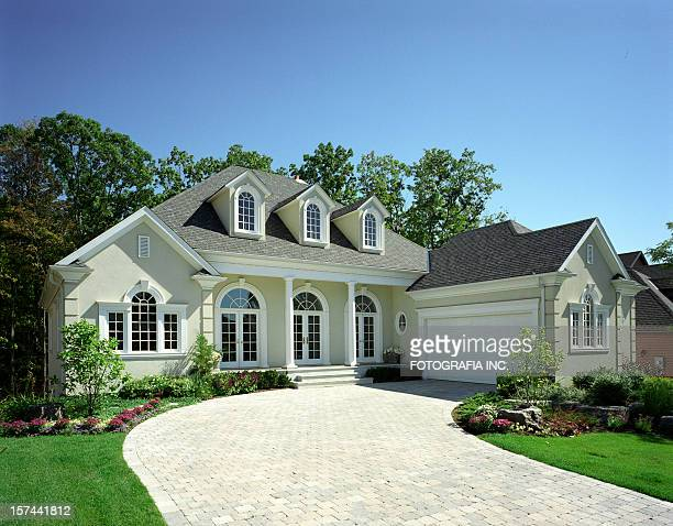 modern house exterior - facade stock pictures, royalty-free photos & images