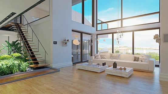 modern house interior design. 1142747548