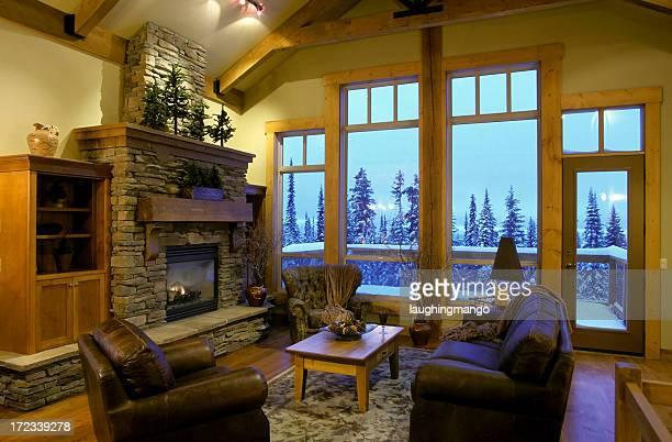 Maison intérieur moderne de salle de séjour