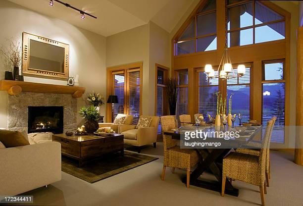 Maison moderne, salle de séjour