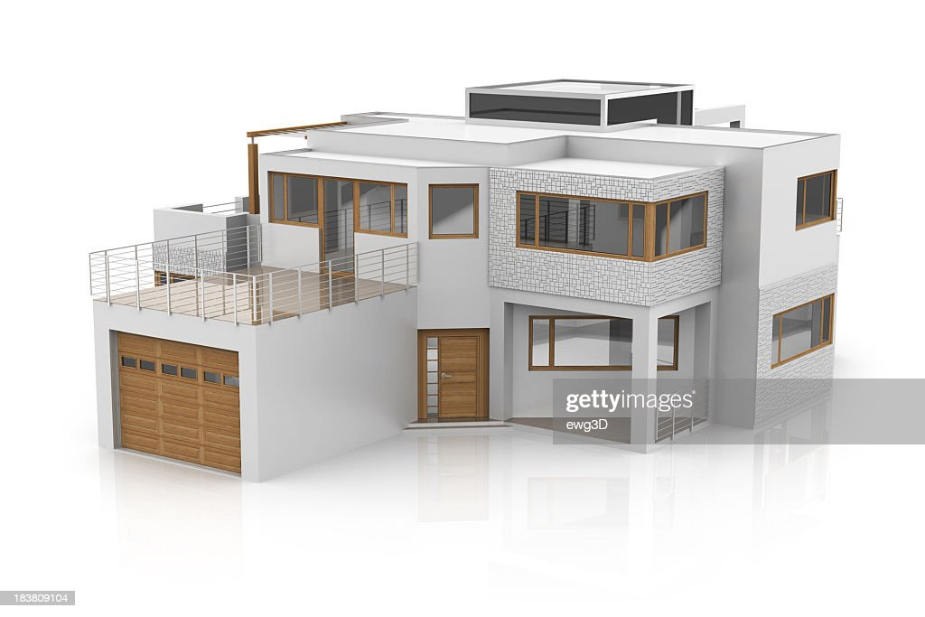 3d Model Of A Modern House Stock Photo Getty Images