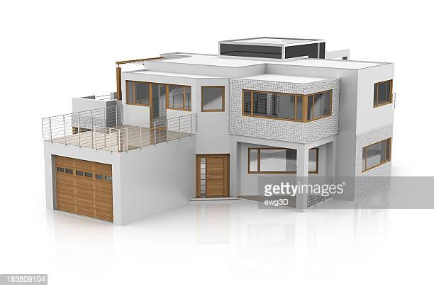 modern house - model building stock photos and pictures