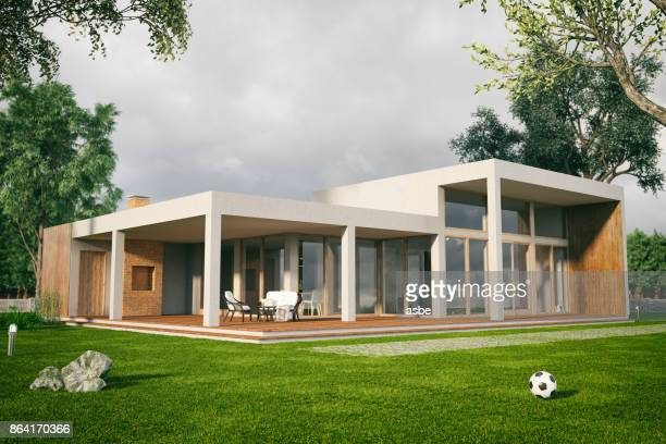 modern house - house stock pictures, royalty-free photos & images