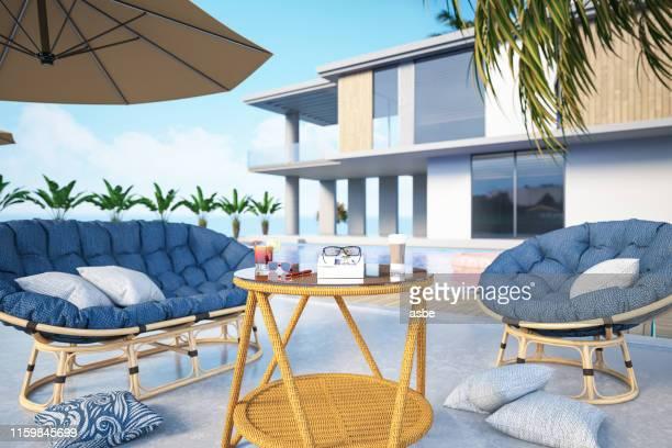 casa moderna com piscina privada - locais geográficos - fotografias e filmes do acervo