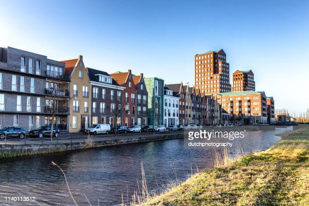 modern houses at amersfoort vathorst - amersfoort netherlands stock photos and pictures