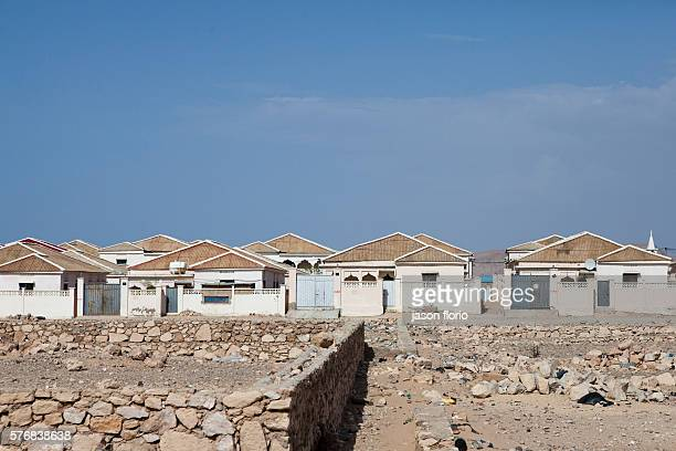 Modern houses in the Somali port of Bossaso allegedly built with money gained from piracy