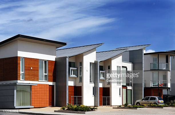 modern housing - community building stock pictures, royalty-free photos & images