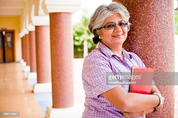 Modern Indian Confident Attractive Mid Aged Business Woman Lecturer Professor