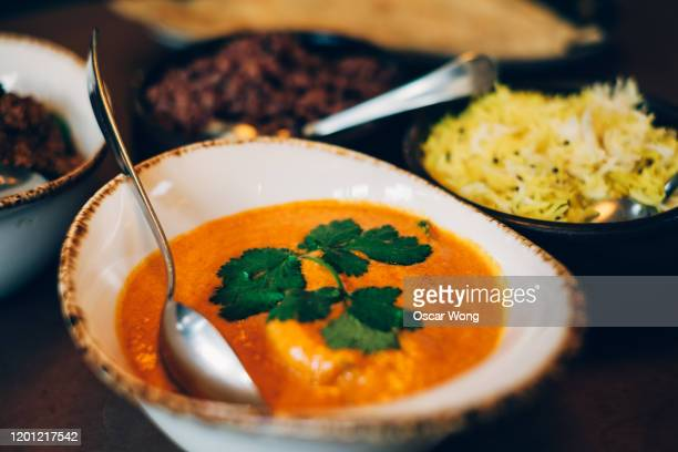modern indian food served in a restaurant - indian food stock pictures, royalty-free photos & images