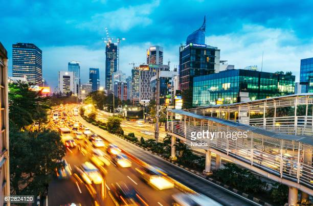 modern indonesia capital city jakarta - indonesia stock photos and pictures