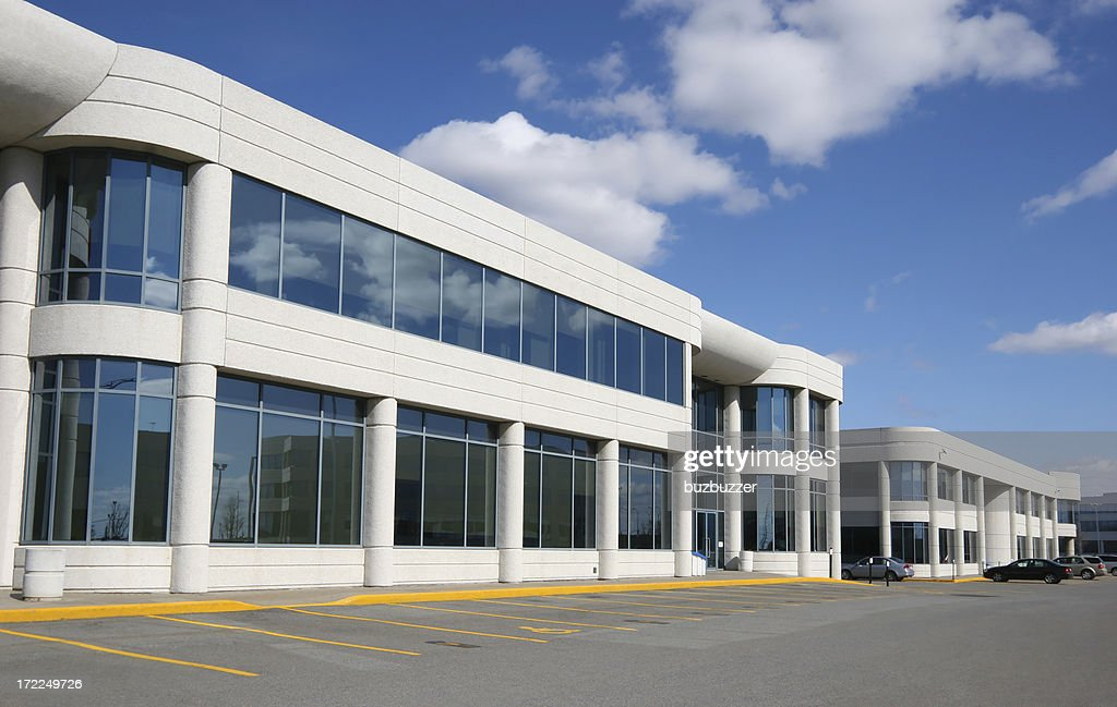 Modern Industrial Buildings District : Stock Photo
