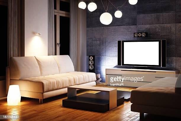 Moderno Interior renderização em 3d