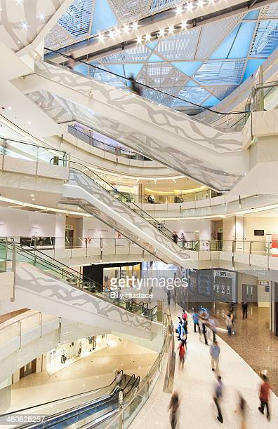 Modern interior architecture of a shopping mall