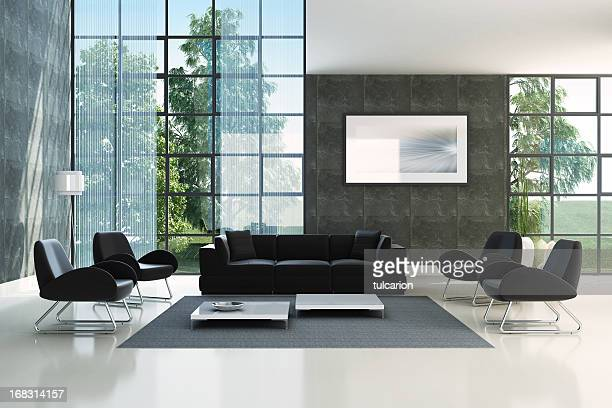 modern interior - hotel lobby stock pictures, royalty-free photos & images