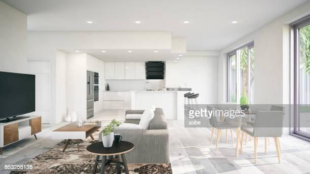 modern interior - empty room stock pictures, royalty-free photos & images